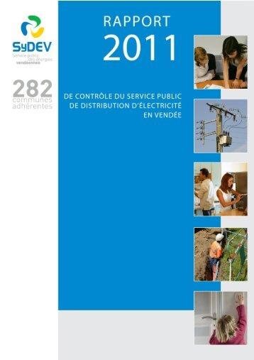 Rapport 2011 du contrôle Electricité - SyDEV