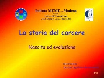 La storia del carcere - Istituto Meme S.r.l.
