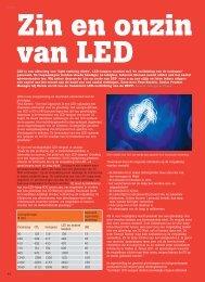 Zin en onzin van LED