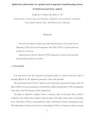 Spherical aberration in spatial and temporal transforming lenses of ...