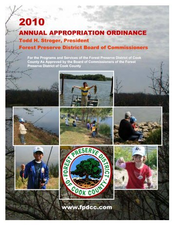 2010 FPDCC Appropriation Book - Forest Preserve District of Cook ...