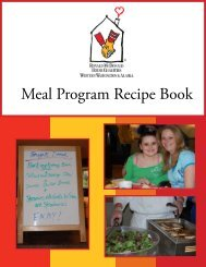 Meal Program Recipe Book - Ronald McDonald House