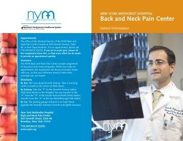 NYM Back and Neck Pain Center - New York Methodist Hospital