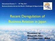 Recent Deregulation of Business Aviation in Japan - eBace