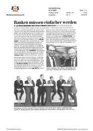 Banken müssen einfacher werden - Swiss Finance Institute