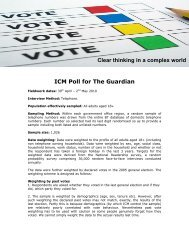 Campaign Poll 5 for The Guardian - ICM Research