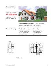 ab 180.000 - Architekturbuero Sitte, Backnang, Aalen, Projektierung ...