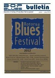June — July 2012 INSIDE: June July 20 WED ... - BOP Blues Club