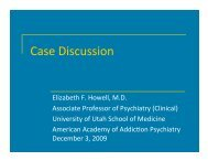 Case Discussion - American Academy of Addiction Psychiatry