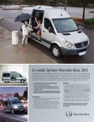Le combi Sprinter Mercedes-Benz 2013 - TheSprinter.ca