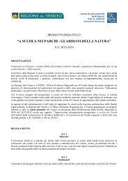 Regolamento del Progetto - Parco Regionale dei Colli Euganei