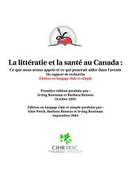 La littératie et la santé au Canada : - Canadian Public Health ...
