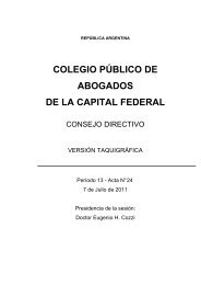 7 de Julio - Colegio Público de Abogados de la Capital Federal