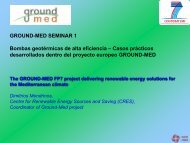 Ground-Med heat pumps - GROUND-MED project