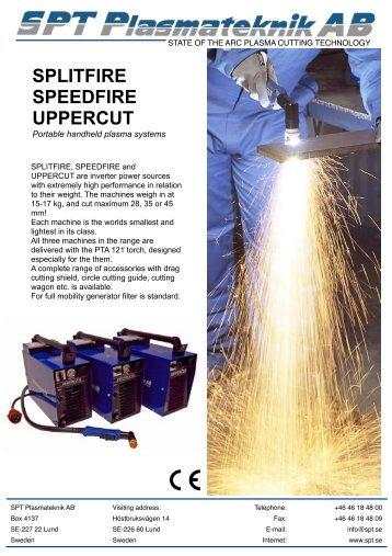 Prospekt xFire Eng PTA 121 121106 - SPT Plasmateknik AB