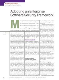 Adopting an Enterprise Software Security ... - Build Security In