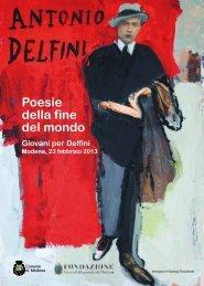 Poesie della fine del mondo Giovani per Delfini - Comune di Modena