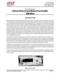 M-Band J Series Compact Medium Power Amplifier VZM-6993J4