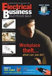 DON'T MISS - Electrical Business Magazine
