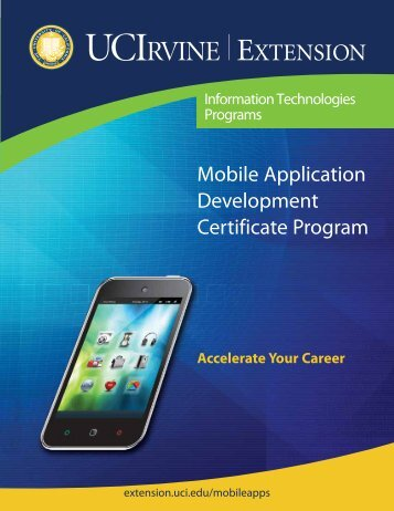 Mobile Application Development Certificate Program - UC Irvine ...