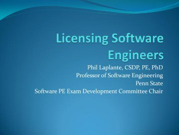 Licensing software engineers - Build Security In
