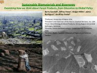Sustainable Biomaterials and Bioenergy - Society of Wood Science ...