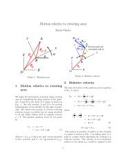Motion relative to rotating axes