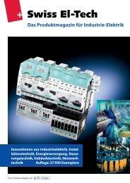 Swiss El-Tech Das Produktmagazin für Industrie-Elektrik - Binkert.ch