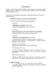 évzáró ülés jegyzőkönyve - Miskolci Egyetem