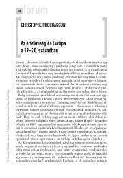 Az értelmiség és Európa a 19