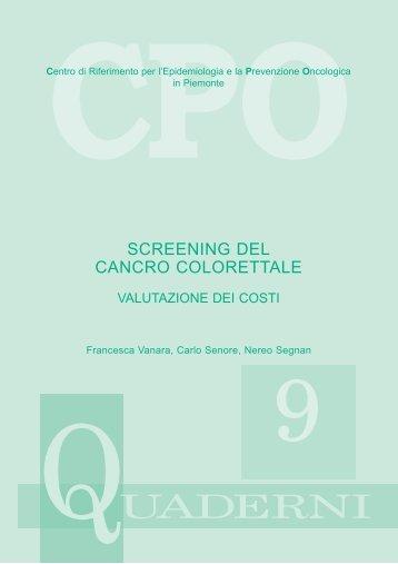 Screening del cancro Colorettale - Valutazione dei costi