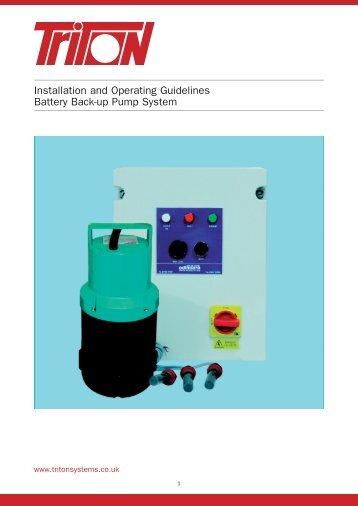 Aqua Pump Pro Battery Back Up Installation & Operation Guidelines ...