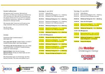 Anreise Samstag, 9. Juni 2012 Herzlich willkommen ... - GETU-Uzwil