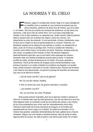 LA NODRIZA Y EL CIELO - Uruguay Educa