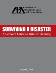 SURVIVING A DISASTER - American Bar Association