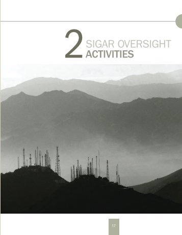 2SIGAR OveRSIGht ACTIVITIES - Special Inspector General for ...