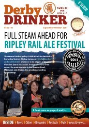 FULL STEAM AHEAD FOR - Derby CAMRA