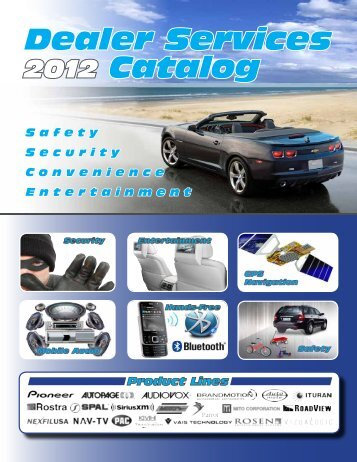 Dealer Services Catalog - AudioAmerica