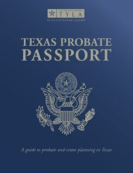 Texas Probate Passport - State Bar of Texas