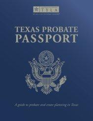 Texas Probate Passport - State Bar of Texas