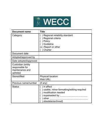 Fifth Annual WECC Transmission Reliability Data Report Final