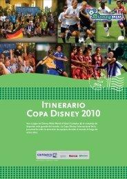 Itinerario Copa Disney 2010 - Coovaeco