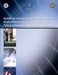 Guide to Conducting Privacy Impact Assessments for State, Local ...