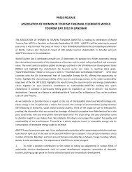 press release association of women in tourism tanzania celebrates ...