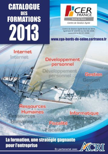 Catalogue général des formations 2013 - CGA Bords de Seine