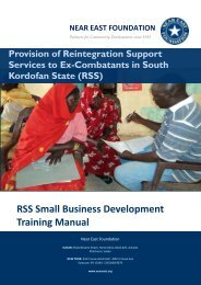 RSS Small Business Development Training Manual - Near East ...
