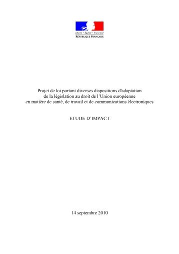 Projet de loi portant diverses dispositions d'adaptation ... - La NACRe