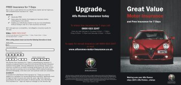 Upgradeto Great Value - Alfa Romeo