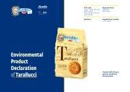 Environmental Product Declaration of Tarallucci