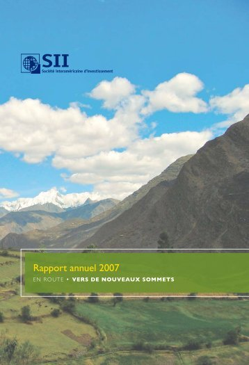 Rapport Annuel 2007 - Inter-American Investment Corporation